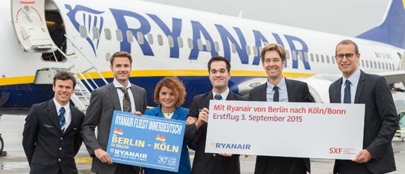 Fly with Ryanair to the Cologne/Bonn Metropolitan Region