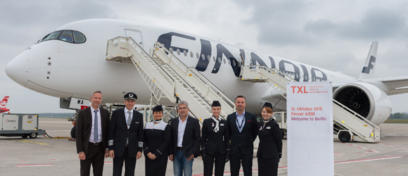 Welcome to Berlin – the Finnair A350 visits Tegel