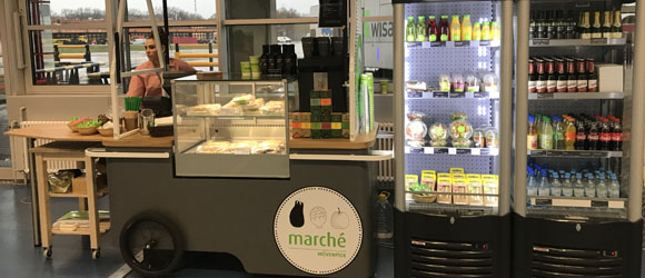 Marché Mövenpick mobile shop new to Tegel