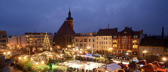 Brandenburg in a Christmassy glow of lights