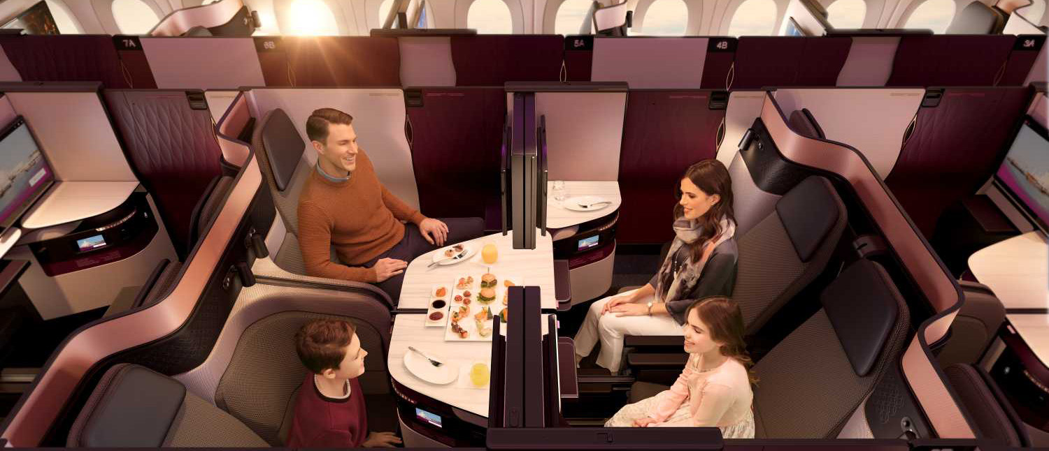Die neue Business Class von Qatar Airways
