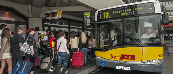 Improved bus services to Tegel Airport