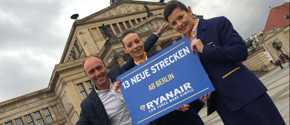 Ryanair is doubling its capacities in Berlin Schönefeld